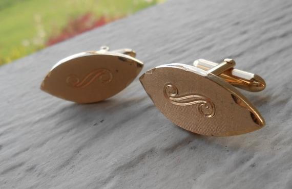 Vintage Engraved Cufflinks. Gift, Anniversary, Birthday, Groom, Valentine's, Christmas