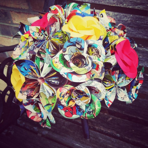 Custom Paper Flower Wedding Bouquet. Bride, Bridesmaid.  Custom Orders Welcome
