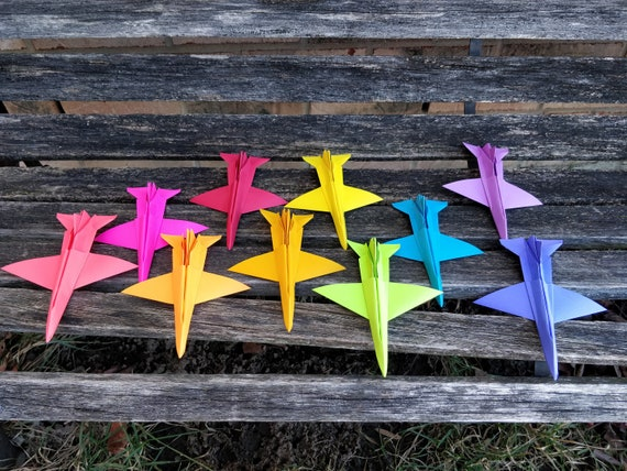 F-16 Paper Airplanes. CHOOSE YOUR COLORS. Escort Cards, Wedding Decoration, Place Cards, Travel, Seating Card. Wedding Favor. F16, F 16