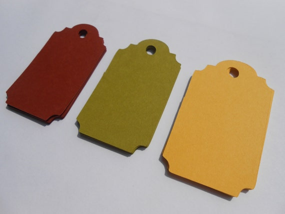 50 Ticket Tags. CHOOSE SIZE & COLORS.  Birthdays, Weddings, Favor, Gift. Yellow, Lime, Citron, Umber