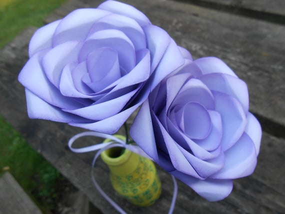 Lavender Paper Roses. Gift, First Anniversary, Wedding Favor, Mother's Day Gift, Valentines, Birthday. Custom Orders Welcome.