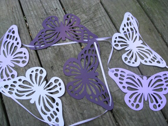 Huge Butterfly Garland. 15 feet. CHOOSE YOUR COLORS. Weddings, Showers, Birthday, Home Decoration.