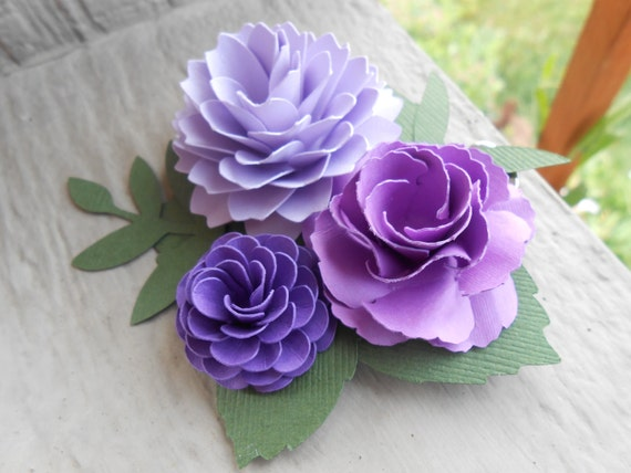 Paper Flower Hair Piece. CHOOSE YOUR COLORS. Wedding Hair Accessories. Bridal Hair Piece, Bridesmaid, Flower Girl