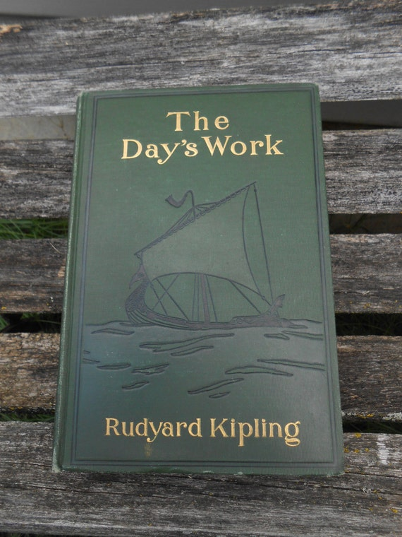 "Vintage ""The Day's Work"", Rudyard Kipling.  Vintage Home Decor, Cabin, Collectable. Jungle Book Author."