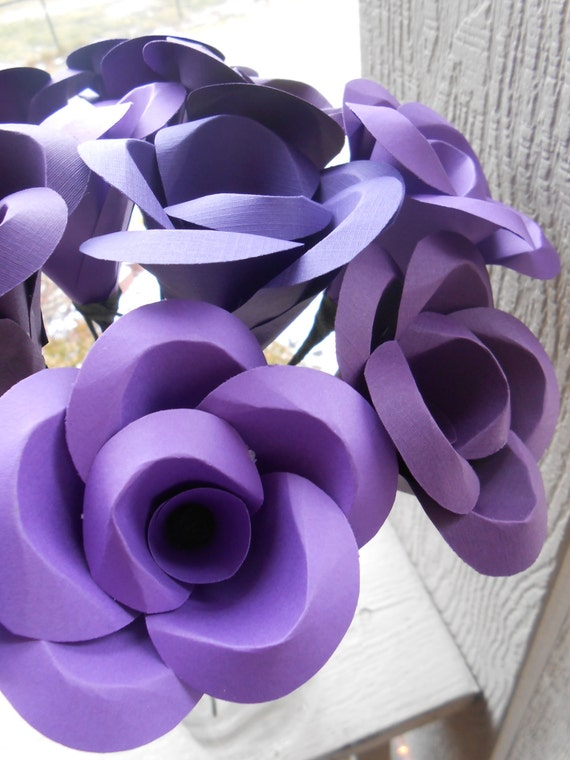 DOZEN Paper Roses. CHOOSE Your COLORS. Anniversary, Wedding, Shower, Home, Decoration. Custom Orders Welcome.
