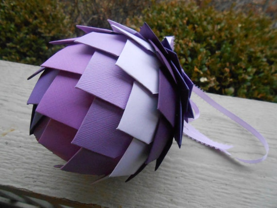 Kissing Ball, In Purples. CHOOSE YOUR COLORS.  Wedding, Ornament, Gift, Anniversary. Lavender, Lilac, Plum, Royal