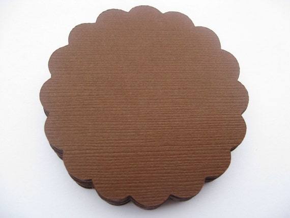 Scalloped Circles. Choose your amount & size. Tag, Wedding, Gift, Scrapbooking, Favor, Cupcake, Garland, Top Notes.