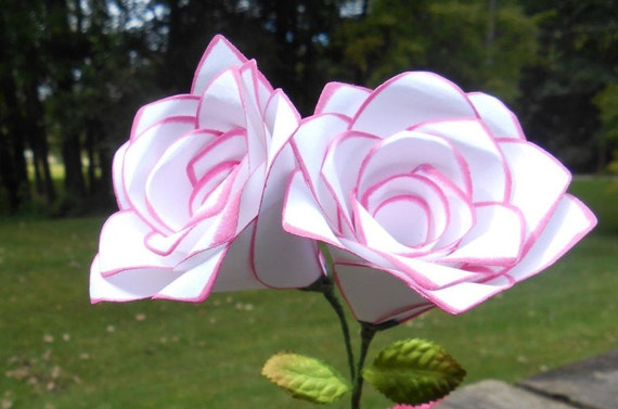 Paper Roses. CHOOSE YOUR COLORS. Mother's Day, Anniversary Gift, Wedding, Birthday, Valentine's Day, Favor, Centerpiece