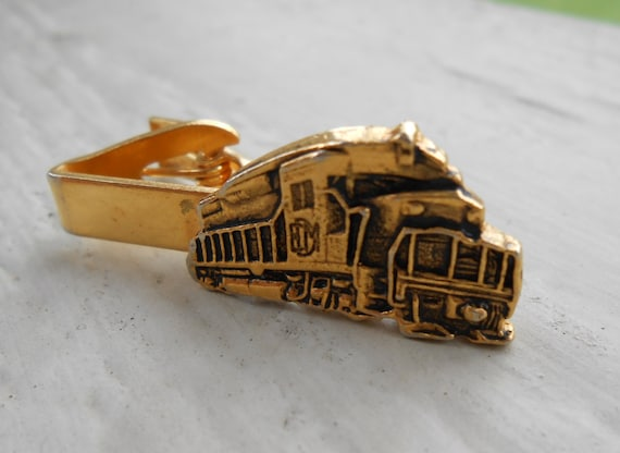 Vintage Train Tie Clip. Wedding, Men's Christmas Gift, Dad, Anniversary, Birthday.