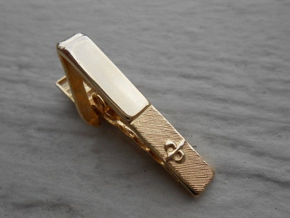 Vintage Fleur De Lis Tie Clip  Christmas, Wedding, Men's, Groomsmen Gift, Dad. Swank