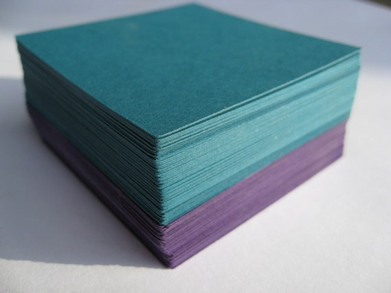 50 Squares. 3 inch. CHOOSE YOUR COLORS. Wedding, Escort, Seating Card. Custom Orders Welcome.
