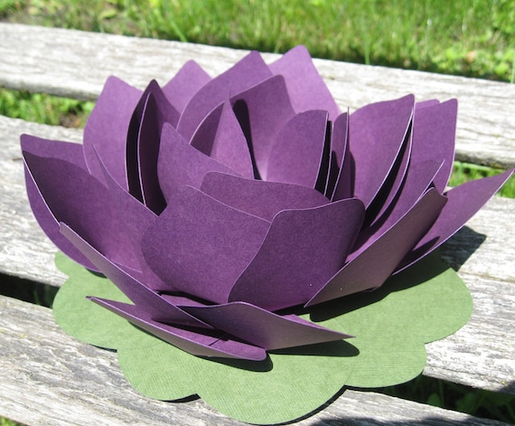 Lotus Flower. Paper Wedding Decor. CHOOSE YOUR COLORS. Escort Card, Favor, Place, Setting. Custom Orders Welcome.