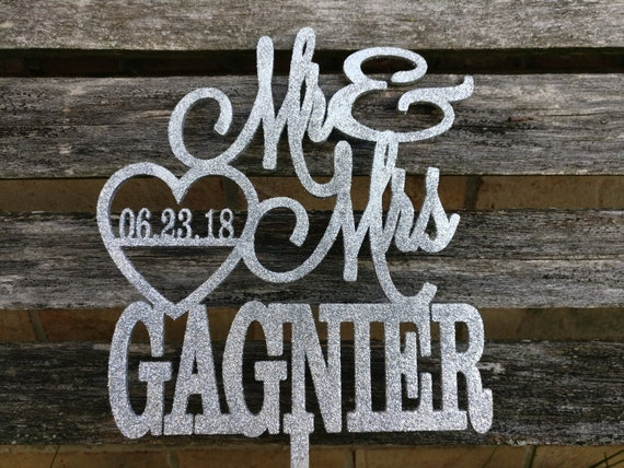 Personalized Cake Topper.  Laser Cut, Glitter, Metallic. Custom Orders Welcome. Wedding, Birthday, Party
