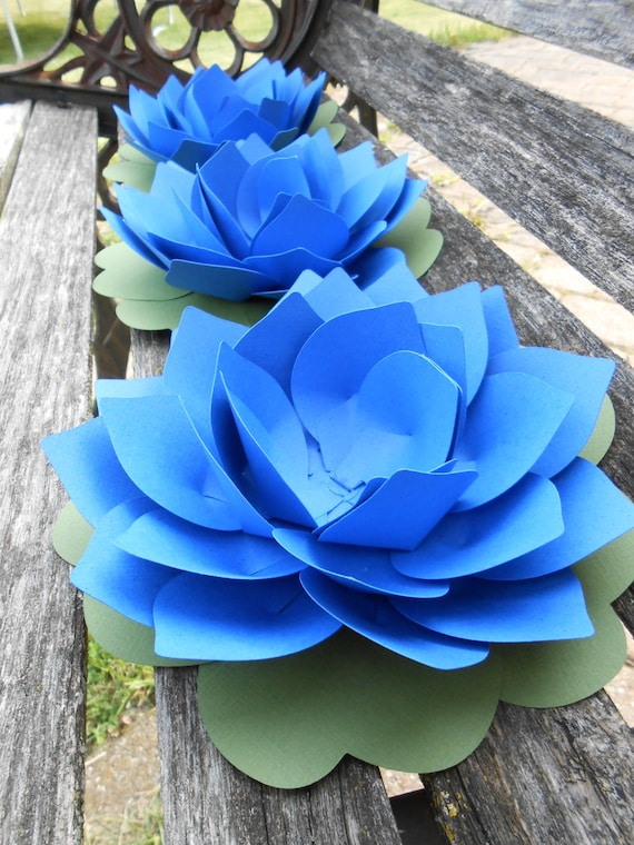 10 Lotus Flowers. CHOOSE YOUR COLORS. Wedding Table Number Holders. 5 inch. Any Color, Amount. Custom Orders Welcome.