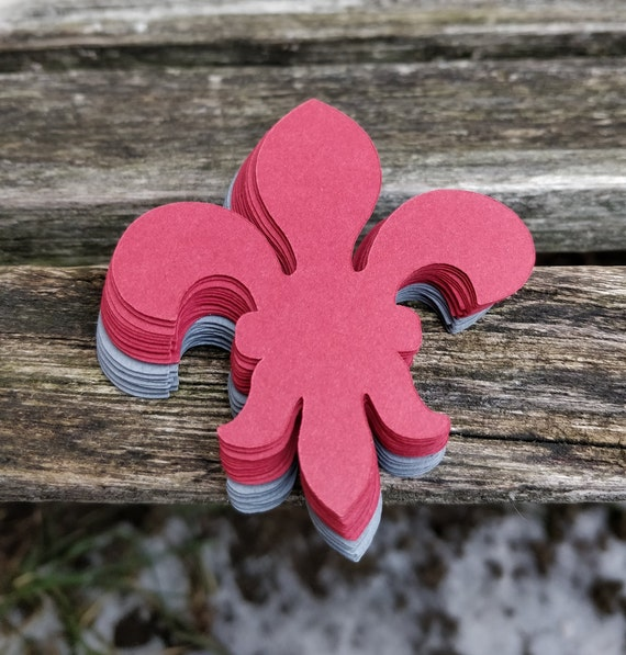 60 Fleur De Lis. 3 inch. CHOOSE YOUR COLORS. Weddings, Scrapbooking, Favors, Place Cards, Escort Cards, Invitaions, Etc.