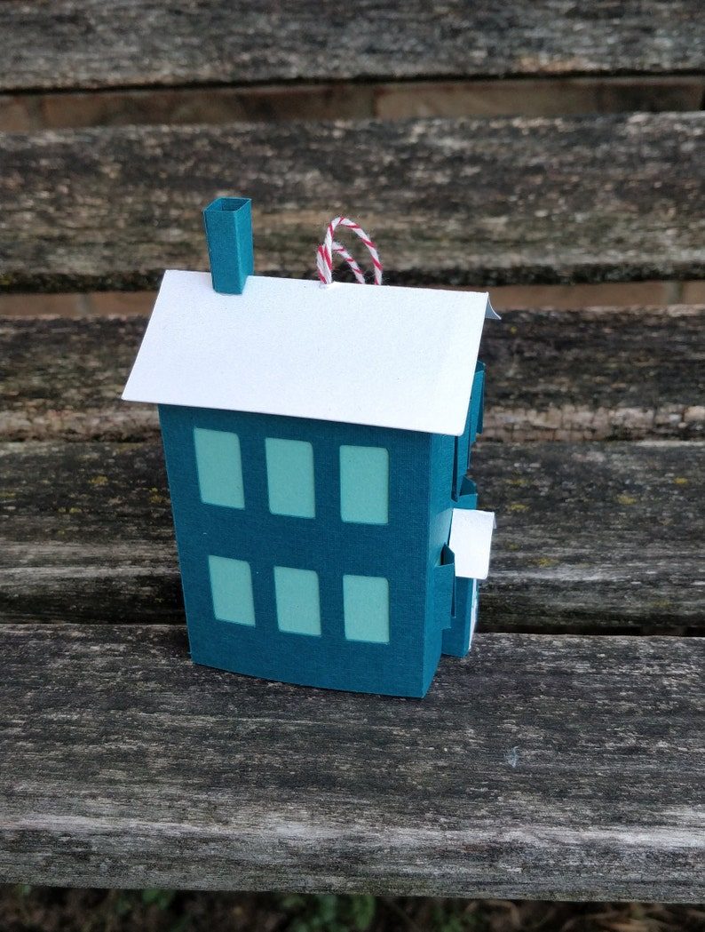 Holiday Christmas Decoration Paper House Ornament Paper House Ornament