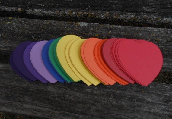 50 Hearts, 3.5 Inch. CHOOSE YOUR COLORS. Custom Orders Welcome. Wedding, Party Decor,