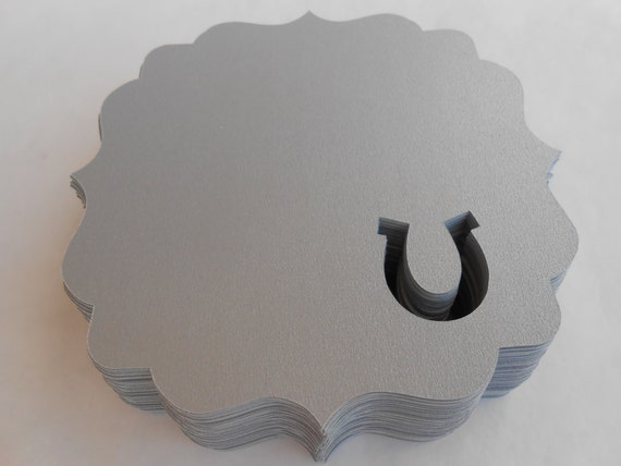 50 Horseshoe Tags. 3 inch. CHOOSE YOUR COLORS. Wedding, Escort, Seating Card. Custom Orders Welcome.