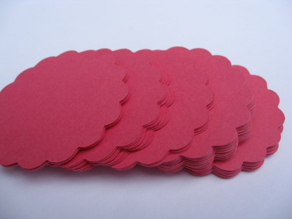 Scalloped Circles. Choose your amount & size. Weddings, Escort Cards, Favor Tags, Garlands, Wishing Tree.