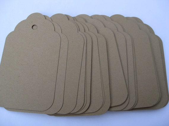 50 Scalloped Tags. CHOOSE SIZE & COLORS. Wedding, Escort, Wishing Tree, Place Card, Shower, Gift.