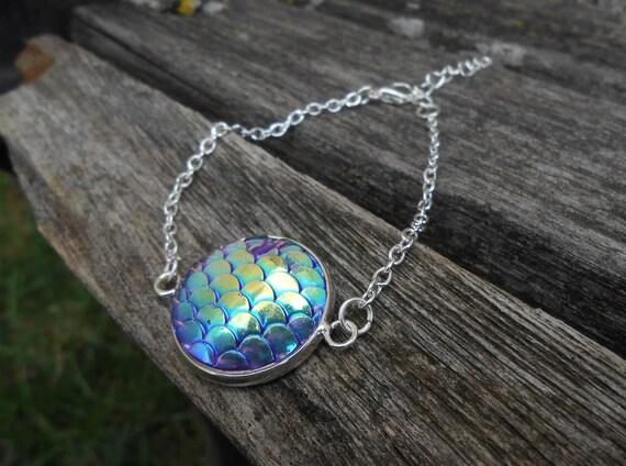 Mermaid Bracelet. Unique Gift For Girls, Mom, Bridesmaid, Flower Girl, Birthday, Favors.