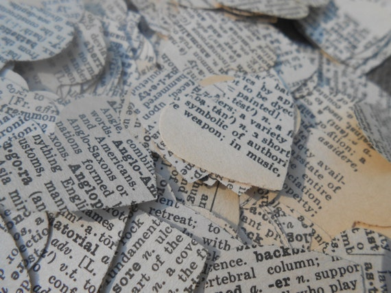 1000 Vintage Dictionary Confetti. Wedding Confetti, Party Decoration. Custom Orders Welcome.