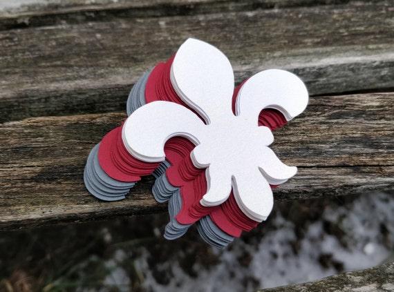 50 Fleur De Lis. CHOOSE Your SIZE & COLORS. Weddings, Scrapbooking, Favors, Place Cards, Escort Cards, Invitaions, Etc.
