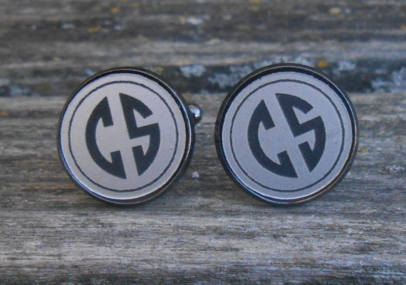 Monogram Cufflinks. CHOOSE YOUR LETTERS. Laser Engraved Acrylic. Wedding, Men, Groom, Groomsmen Gift, Dad. Custom, Personalized, Letter