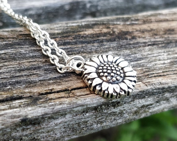 Sunflower Necklace. Gift For Mom, Wedding, Bridesmaids, Kids, Anniversary, Birthday, Christmas.