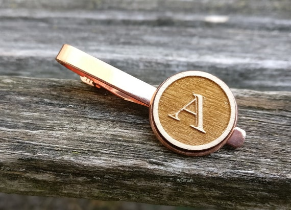 Custom Monogram Tie Clip. CHOOSE YOUR LETTER!! Laser Engraved. Wedding, Men's, Groomsmen Gift, Dad. Custom Orders Welcome.