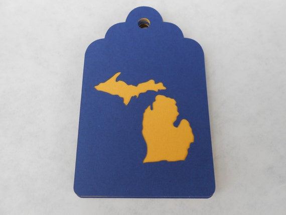 50 State Scalloped Tags. 3.5 Inch. CHOOSE YOUR State & Colors. Wedding, Favor.