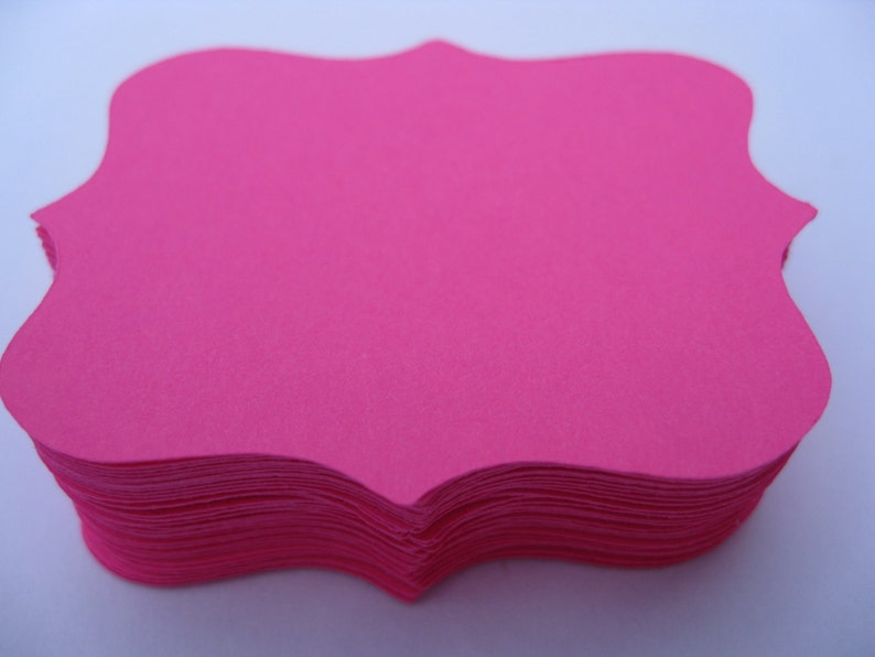 Tag Cards Wedding Etc. 3 inch.CHOOSE YOUR COLORS 50 Fancy Top Notes Escort Cards Wishing Tree