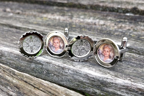 Locket Cufflinks. Groom, Anniversary, Wedding, Christmas Gift, Dad, Birthday, Valentine's Day, Father's Day