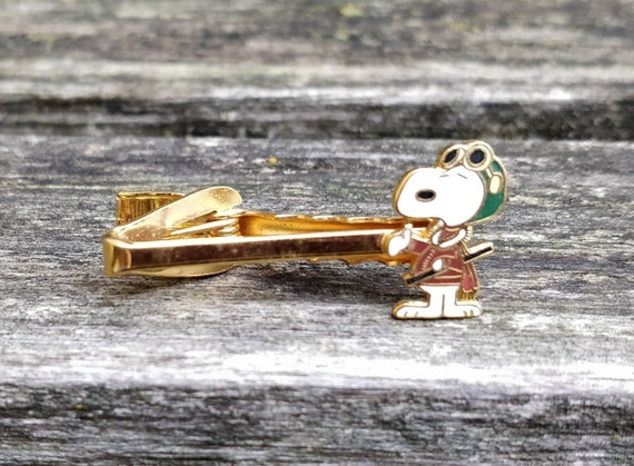 Vintage Snoopy Tie Clip. Wedding, Groomsmen Gift, Dad. Christmas, Groom, Anniversary, Birthday. Peanuts, Charlie Brown