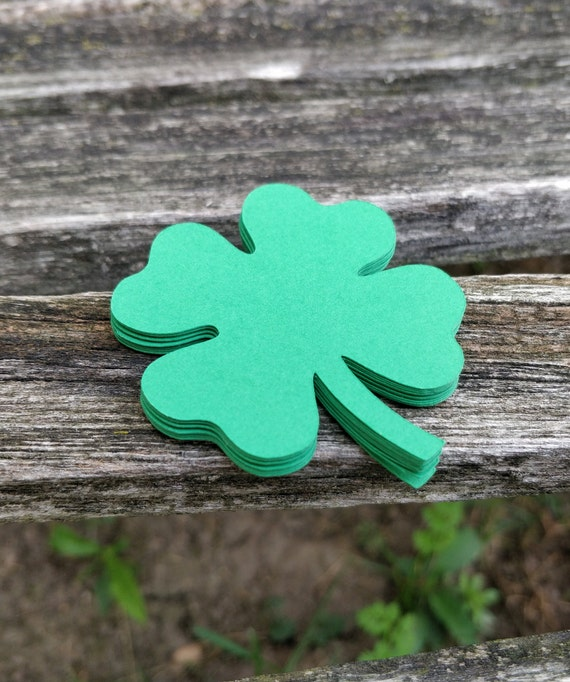 50 Shamrocks, Cardstock. 4 inch. St.Patricks, Escort Cards, Wedding, Wishing Tree, Paper Clover. CHOOSE YOUR COLORS