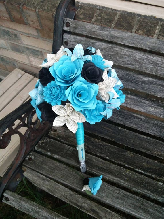 Custom Paper Flower Wedding Bouquets. Bridal, Bridesmaids, Boutonniers, Corsages, Centerpieces, Cake Toppers, Etc.