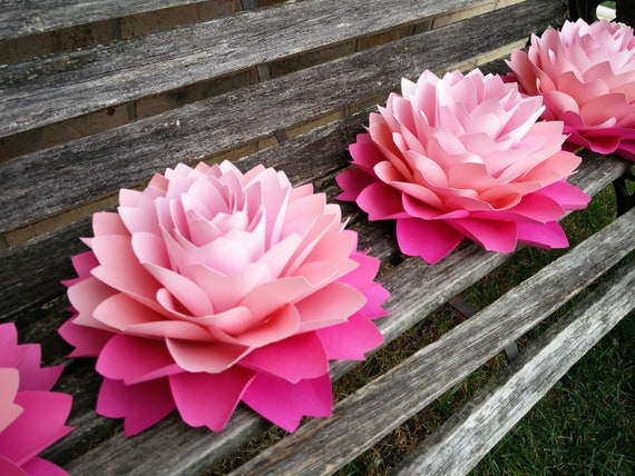 "HUGE Dahlia Centerpiece Flowers. 10.5"". Shower, Wedding, Gift, Decoration, Event, Table Decor, Large Paper Flower."