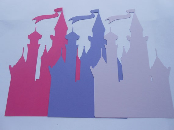 10 Princess Castles. 8 inch. CHOOSE YOUR COLORS. Showers, Weddings, Birthdays, Decoration. Custom Orders Welcome.