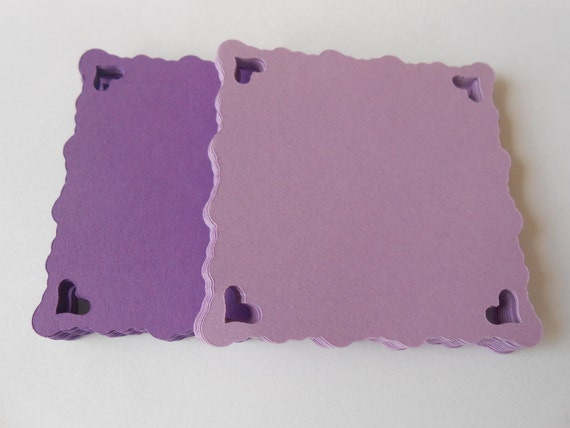 50 Square Heart Tags. 2.5 inch. CHOOSE YOUR COLORS. Weddings, Favors, Wishing Tree, Confetti. Custom Orders Welcome.