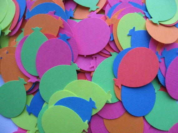 1000 NEON Rainbow Balloon Confetti, Fluorescent.  Wedding Confetti, Party Decoration. Any Color Available. CUSTOM ORDERS Welcome