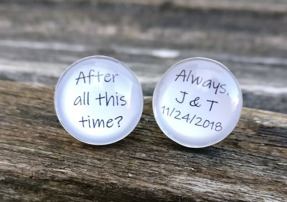 Personalized Sterling Silver Cufflinks. Wedding, Groom Gift, Anniversary, Birthday. Christmas.
