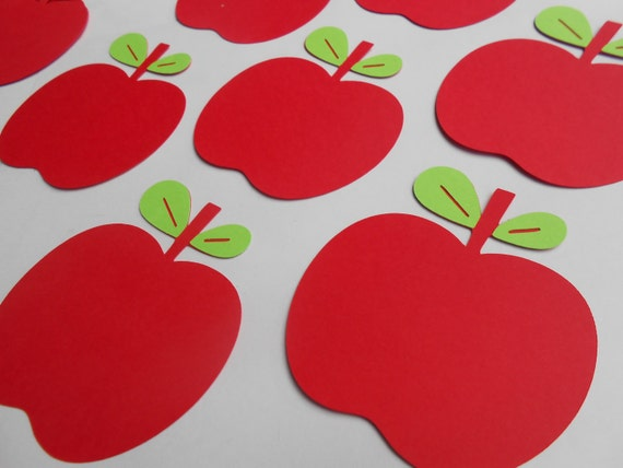75 Apples. 3.5 Inch. Parties, Weddings, Favor, Place Cards, Escort, Table. ANY COLOR Available. CUSTOM Orders Welcome.