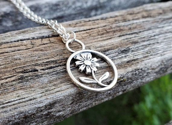 Sunflower Necklace. Gift For Women, Wedding, Bridesmaids, Kids, Anniversary, Birthday, Christmas.