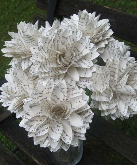 ONE Book Dahlia. Perfect for First Anniversary, Weddings, Birthdays. Unique Gift. CUSTOM ORDERS Welcome