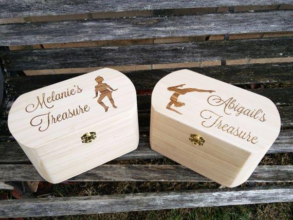 PERSONALIZED Kid's Keepsake Box. Treasure Chest. Children's Jewelry Box. Card Box For Weddings.