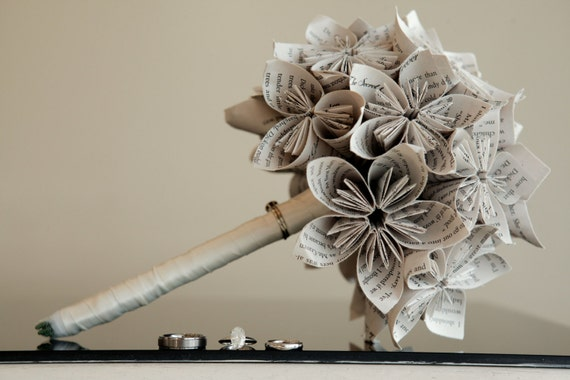 Custom Wedding Bouquet. You Pick The Colors, Papers, Books, Etc.  Anything Is Possible. Custom Orders Welcome.