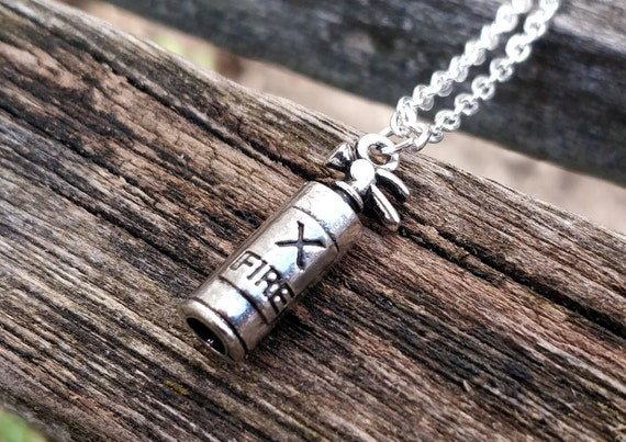 Fire Extinguisher Necklace. Gift For Him, Gift For Her. Firefighter Gift