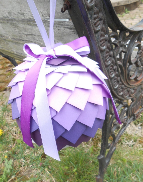 Large Kissing Ball. Flower Girl Alternative. Aisle, Chair Decoration. CHOOSE YOUR COLORS. Wedding. Purple, Lavender, Lilac, Iris, Plum
