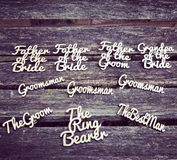 Laser Cut Boutonnieres.  Custom. Wedding, Groom, Groomsmen, Usher, Father of the Bride, Pastor, Ring Bearer