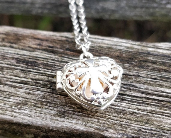 Personalized Heart Locket Necklace. CHOOSE YOUR WORDS. Wedding, Groom Gift, Anniversary, Birthday, Valentine.